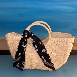 Pinup Girl - Retro Straw Handbag - NEW